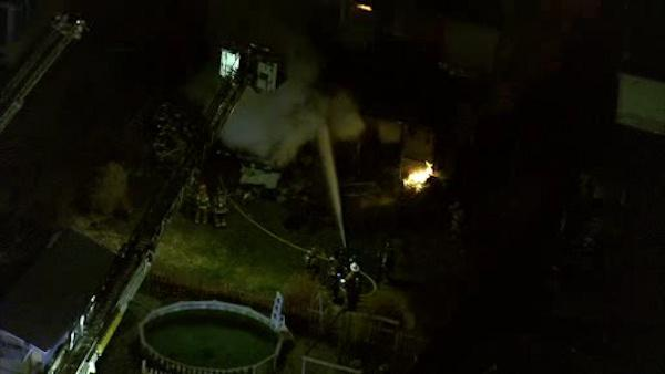 Crews fight 2-alarm fire in Burlington County