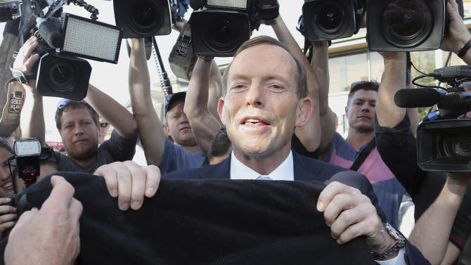 Conservatives sweep to Australia election victory
