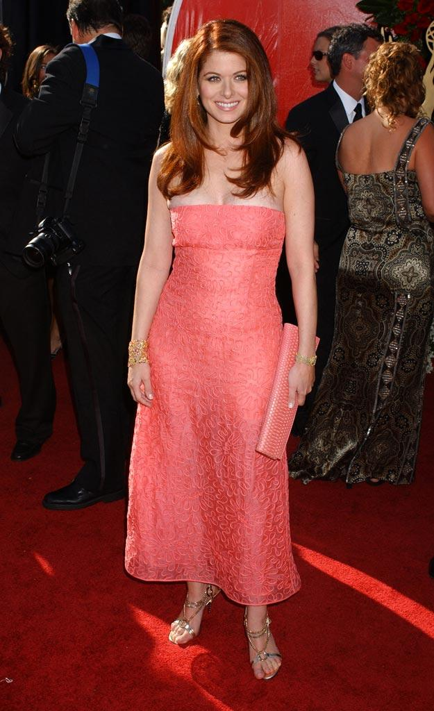 Debra Messing at The 56th Annual Primetime Emmy Awards.