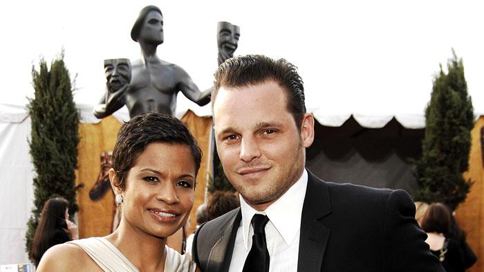Justin Chambers and wife Keisha Chambers at the 13th Annual Screen Actors Guild Awards.