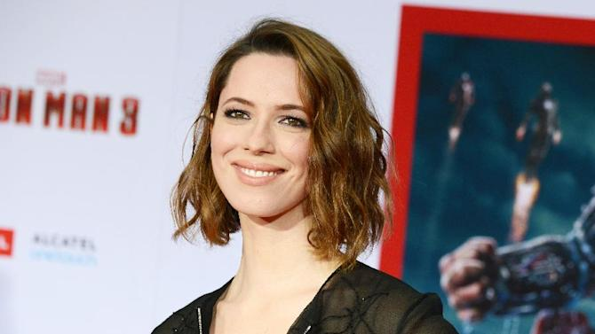 """FILE - This April 24, 2013 file photo shows actress Rebecca Hall at the world premiere of  """"Iron Man 3"""" in Los Angeles, Calif. The Roundabout Theatre Company said Tuesday, May 28, that Hall will star on Broadway in the first revival of """"Machinal"""" since it debuted 85 years ago. Previews begin Dec. 20 at the American Airlines Theatre and opening night is Jan. 16. (Photo by Jordan Strauss/Invision/AP, file)"""