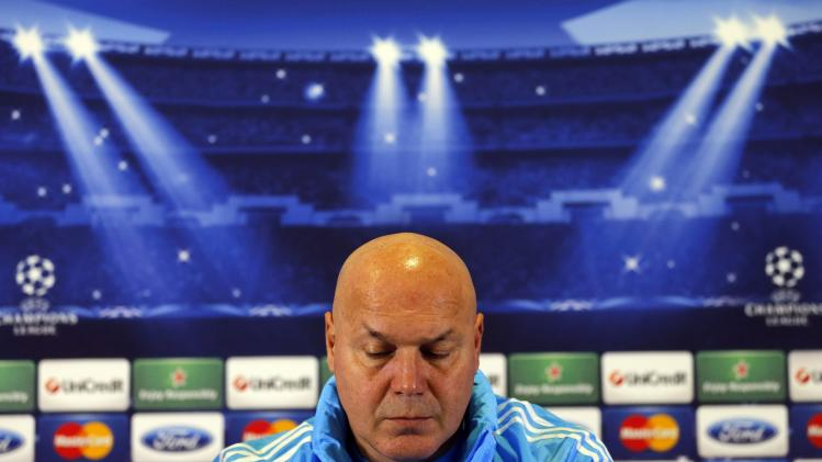 Olympique Marseille sports director and new coach Anigo attends a news conference before a training session in Marseille