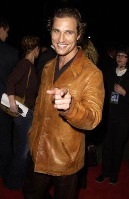 Matthew McConaughey at the LA premiere of MGM's Hart's War