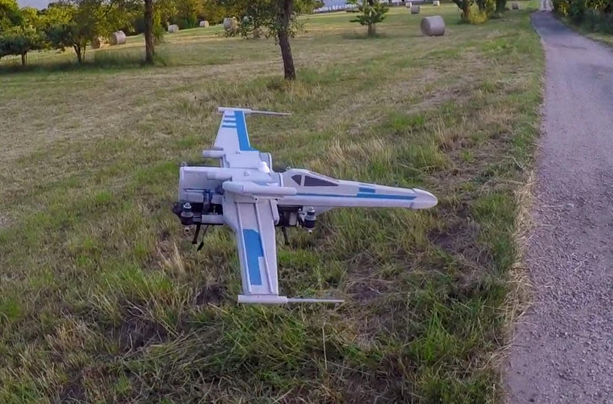 Ready, Red Leader? 'Star Wars' X-wing quadcopter takes flight