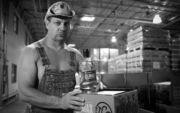 """A bottle of """"Moonshiners"""" star Tim Smith's Climax moonshine allegedly resulted in a girls' basketball coach's firing -- climaxmoonshine.com"""