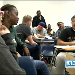 Veterans Help Each Other In Sacramento State College Course