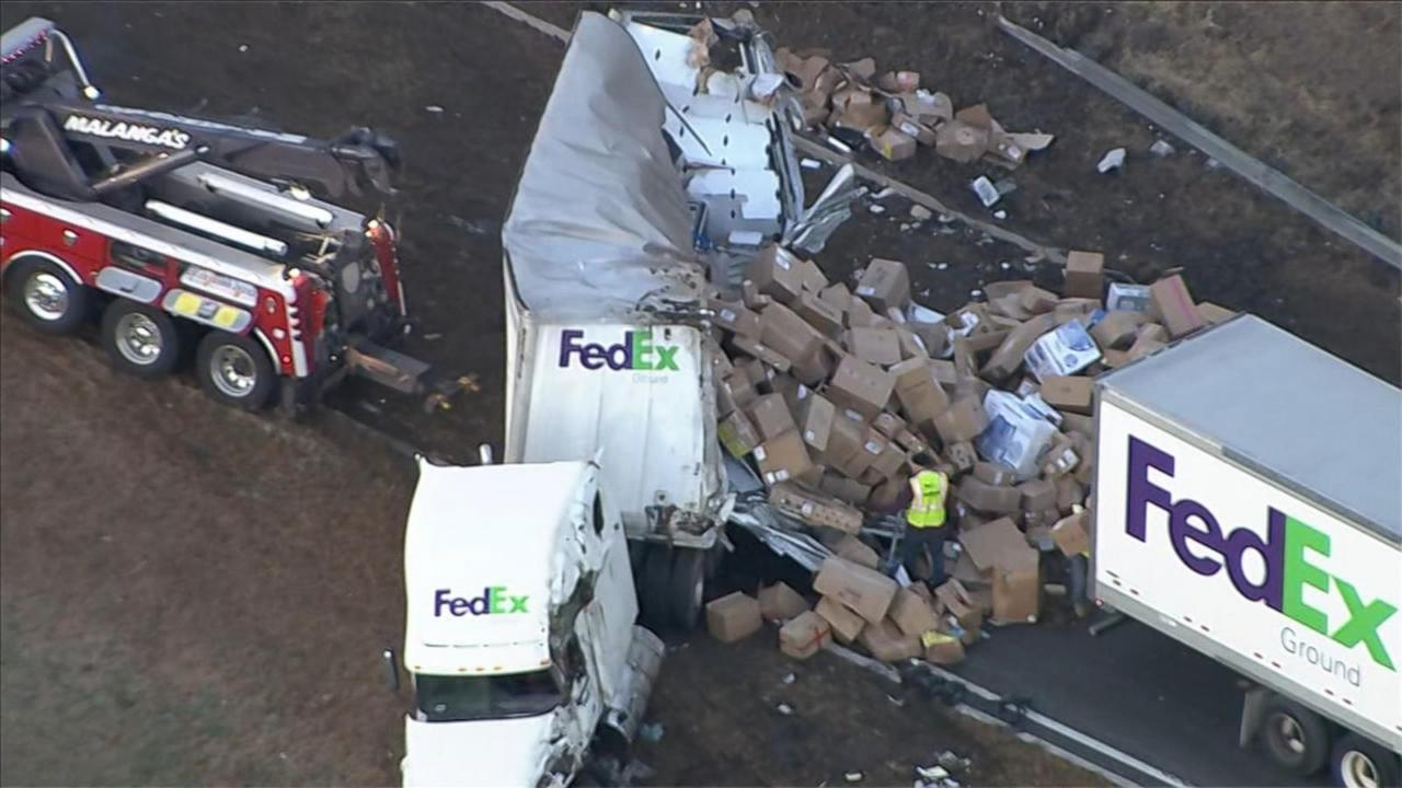 New Jersey Highway Crash Sends FedEx Packages Flying 10 Days Before Christmas