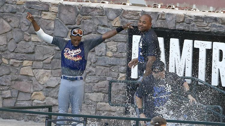 Dodgers make big splash in Arizona celebration