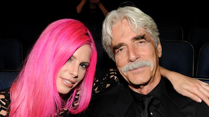 EXCLUSIVE - From left, Cleo Cole Elliott and Sam Elliott attend the 2013 Primetime Creative Arts Emmy Awards, on Sunday, September 15, 2013 at Nokia Theatre L.A. Live, in Los Angeles, Calif. (Photo by Frank Micelotta/Invision for Academy of Television Arts & Sciences/AP Images)
