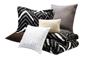 Throw Pillows, Studded Shams, and a Duvet Set