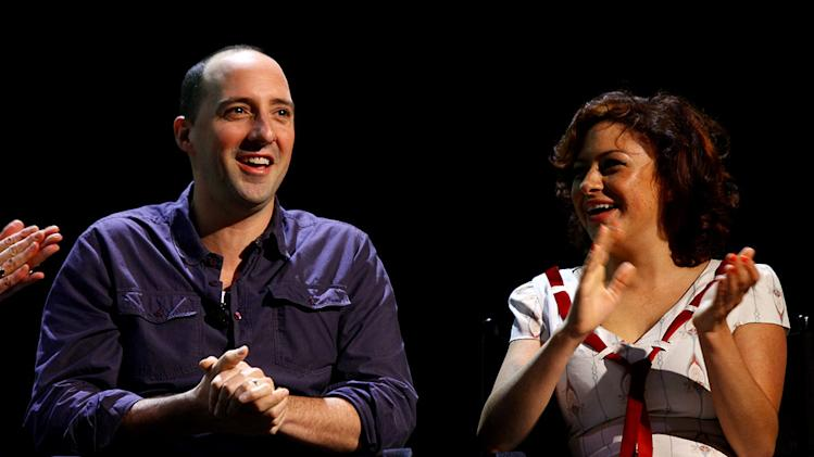 "Tony Hale and Alia Shawkat attend The 2011 New Yorker Festival: ""Arrested Development"" Panel at Acura at SIR Stage37 on October 2, 2011 in New York City."