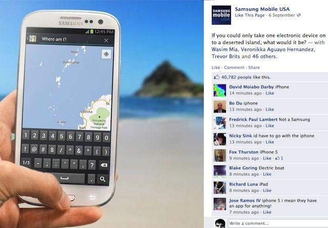 Samsung accidentally promotes iPhone 5 when Facebook campaign backfires