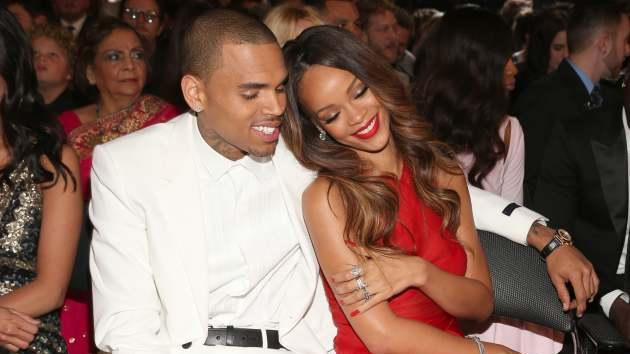 Chris Brown and Rihanna attend the 55th Annual Grammy Awards at Staples Center, Los Angeles, on February 10, 2013 -- Getty Images