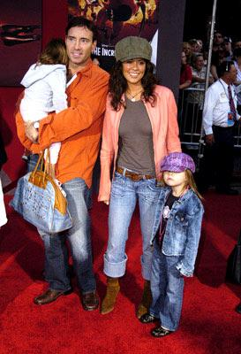 Brooke Burke and family at the Hollywood premiere of Disney and Pixar's The Incredibles
