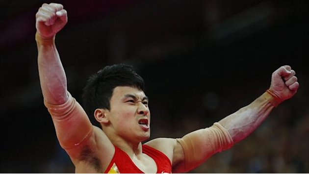 Feng wins Olympic gold on parallel bars