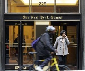 New York Times Employees Walk Out in Union Protest