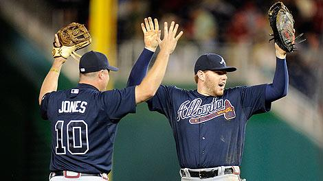 Chipper Jones and Freddie Freeman