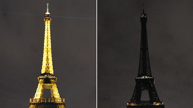 The Eiffel Tower in Paris taking part in Earth Hour in 2010