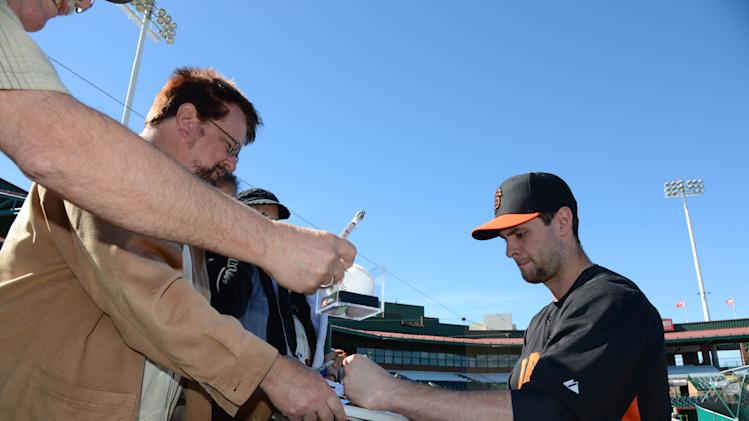 MLB: San Francisco Giants-Workout