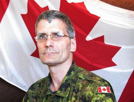 Warrant Officer Patrice Vincent, a member of the Joint Personnel Support Unit, Integrated Personnel Support Centre St-Jean, is pictured in this undated handout photo