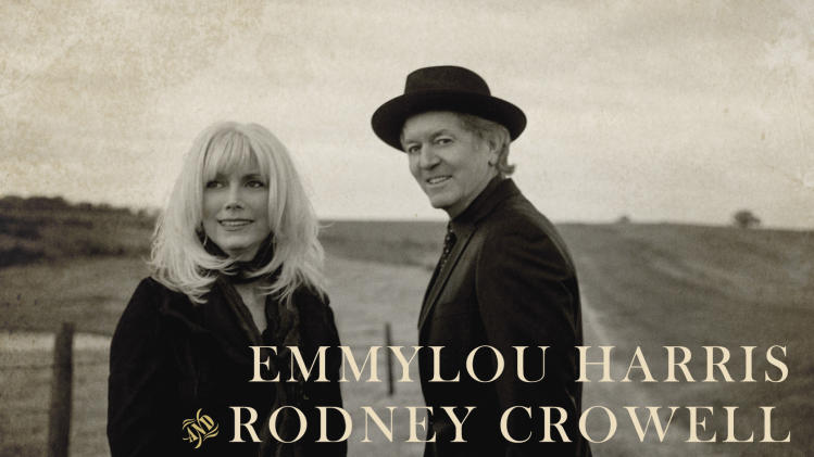 "This CD cover image released by Nonesuch shows ""Old Yellow Moon,"" by Emmylou Harris and Rodney Crowell. (AP Photo/Nonesuch)"