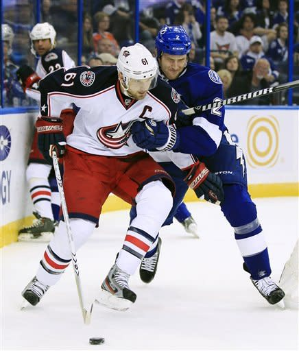 Lecavalier, St. Louis lead Lightning over Columbus