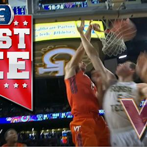 Virginia Tech's Joey van Zegeren Throws Down Two Nasty Dunks | ACC Must See Moment