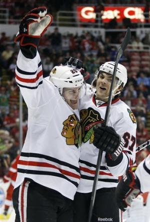 Saad has 3 points to lead Blackhawks over Wings