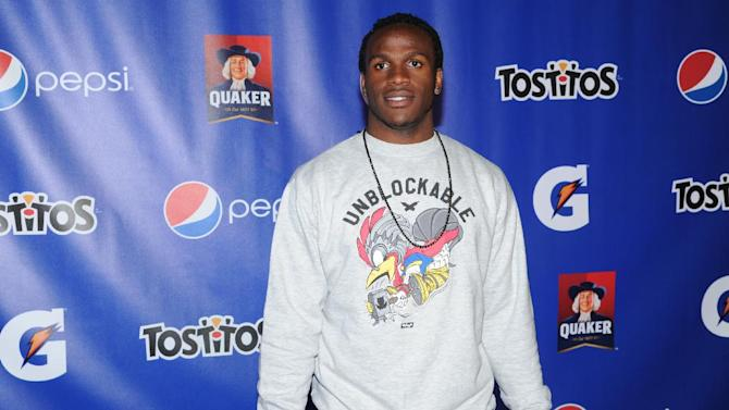 Jamaal Charles of the Kansas City Chiefs attends at the PepsiCo Pre-Super Bowl Party, at Masquerade Night Club, on Friday, Feb. 1, 2013 in New Orleans. (Photo by Evan Agostini/Invision for PepsiCo/AP Images)