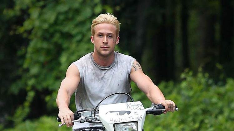 Ryan Gosling On Motorcycle