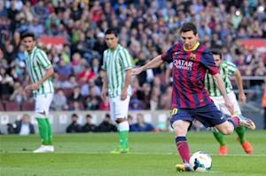 Barcelona 3-1 Betis: Messi strikes twice as Martino's men keep pressure on Atletico
