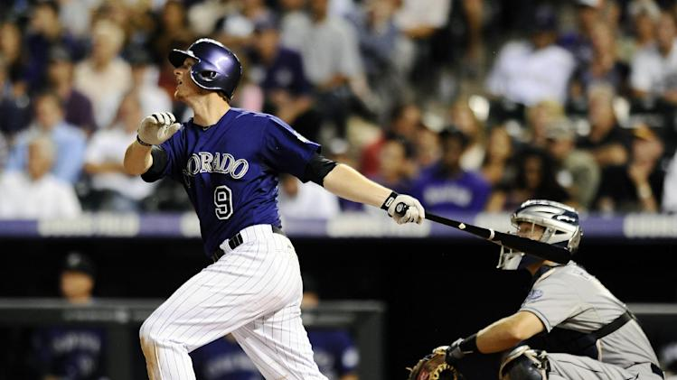 Chacin leads Rockies over Padres, 14-2