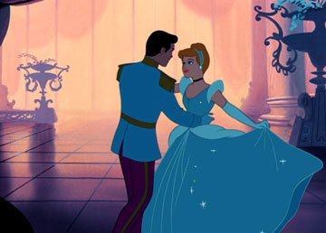 Prince Charming and Cinderella in Walt Disney Pictures' Cinderella