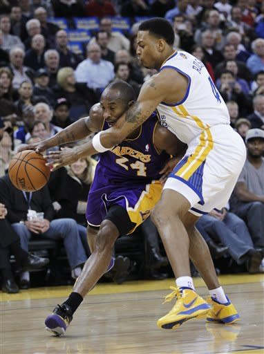 Bryant leads Lakers past Warriors, 104-101