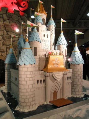 Castle cake made by the Welsh National Culinary Team, chosen to make Kate and Prince William's wedding cake