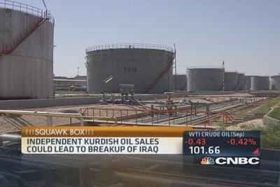Kurdish oil tanker to offload in US