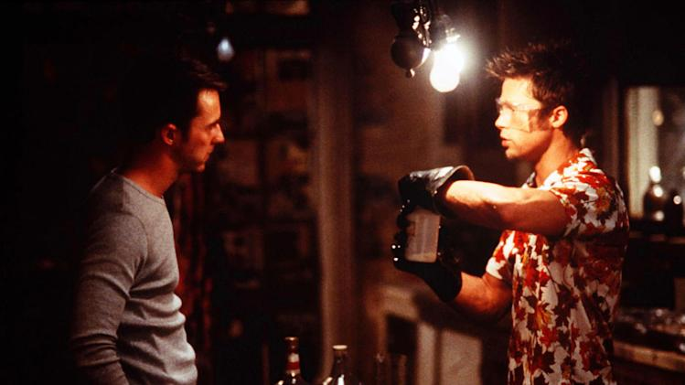 Fight Club 20th Century Fox Production Photos 1999 Ed Norton Brad Pitt