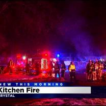 Crews Respond To House Fire In Crystal
