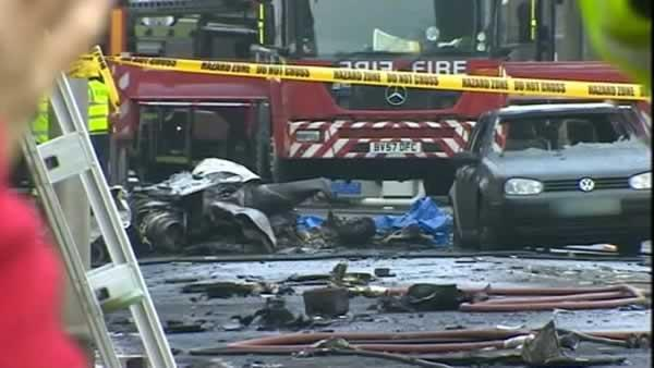 Two dead after helicopter crashes in London