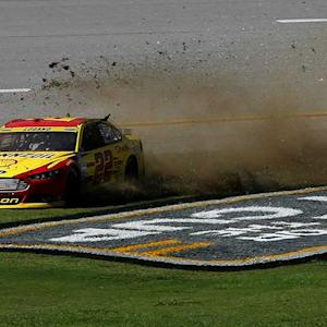 McMurray gets loose in traffic, Logano spins