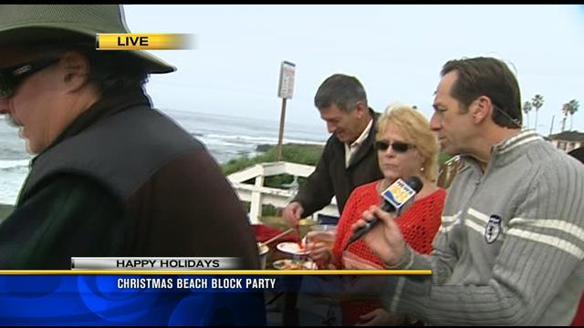 Christmas beach block party