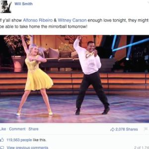Will Smith Posts 'DWTS Support for Alfonso