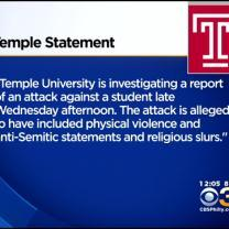 Police Investigate Assault, Possible Hate Crime On Temple Campus