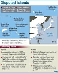 <p>Graphic on the disputed Senkaku/Diaoyu islands in Japanese administration, also claimed by China</p>