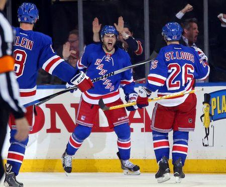 Rangers even series with win over Capitals