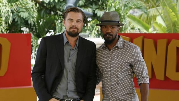 Leonardo DiCaprio and Jamie Foxx attend the 'Django Unchained' photo call at The Ritz Carlton Hotel in Cancun, Mexico on April 15, 2012  -- Getty Images