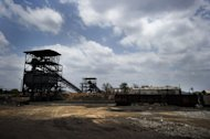 An abandoned coal mine on the outskirts of Tete in the Moatize coal basin in Mozambique. In Mozambique, developing infrastructure to support its new coal assets is proving more challenging than anticipated, Rio Tinto says