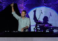 Afrojack performs at the Clive Davis Pre-GRAMMY Gala on Saturday, Feb. 9, 2013 in Beverly Hills, Calif. (Photo by Chris Pizzello/Invision/AP)