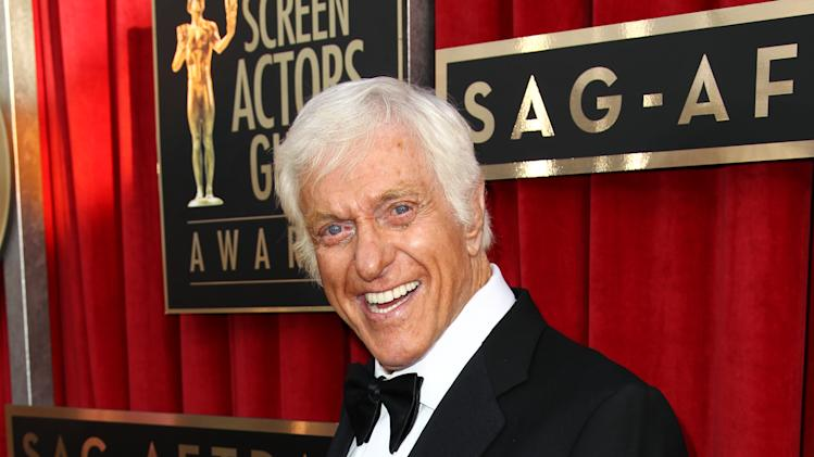 Dick Van Dyke arrives at the 19th Annual Screen Actors Guild Awards at the Shrine Auditorium in Los Angeles on Sunday, Jan. 27, 2013. (Photo by Matt Sayles/Invision/AP)