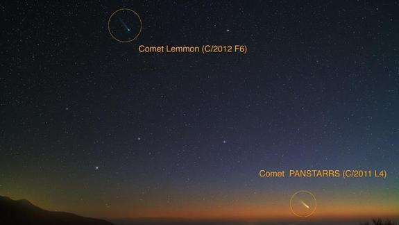 Wow! Rare Photos Capture 2 Comets Together in Night Sky